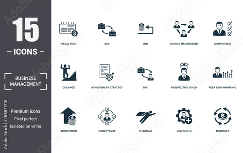 Fototapeta  Business Management icon set