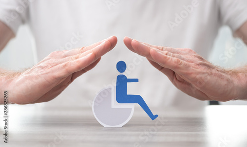 Concept of disability insurance Wallpaper Mural