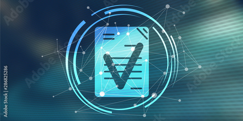 Photo Concept of document validation