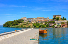 Capodimonte (Italy) - A Little Old Town On Bolsena Lake With Fortress And Suggestive Beach And Water Front; Province Of Viterbo, Lazio Region