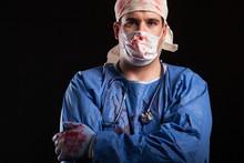 Portrait Man In Doctor Costume...