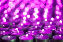 Purple Pink Candle Light. Chri...