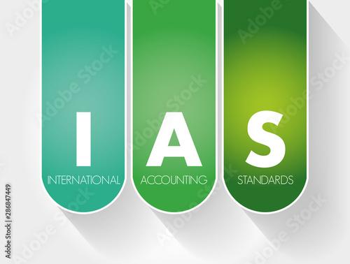 Fényképezés  IAS - International Accounting Standards acronym, business concept background