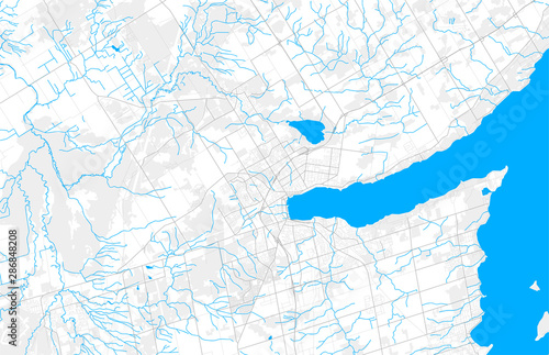 Rich detailed vector map of Barrie, Ontario, Canada Wallpaper Mural