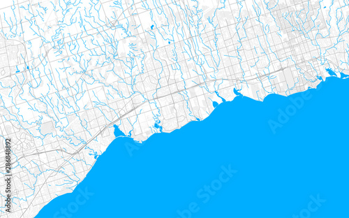 Photo Rich detailed vector map of Ajax, Ontario, Canada