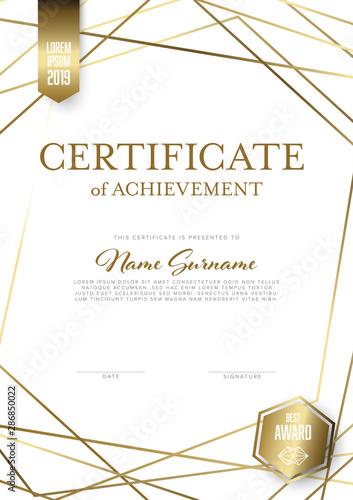 Obraz Modern light certificate template layout - fototapety do salonu
