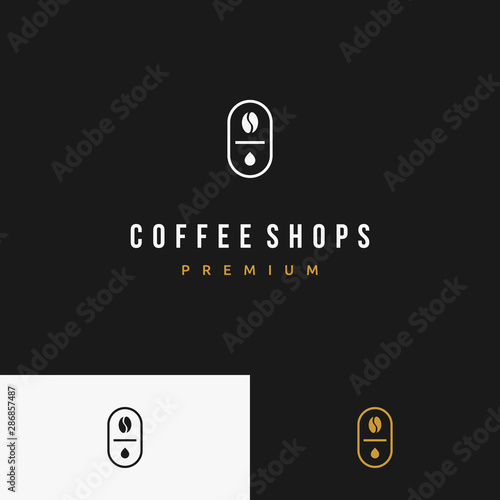 Vintage Modern Premium Coffee Bean Shop Droplet Badge Logo Design Inspiration Buy This Stock Vector And Explore Similar Vectors At Adobe Stock Adobe Stock,Cozy Interior Design For Small Living Room