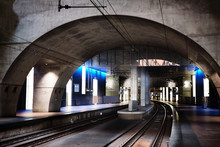 Subway In Brussels Illuminated...