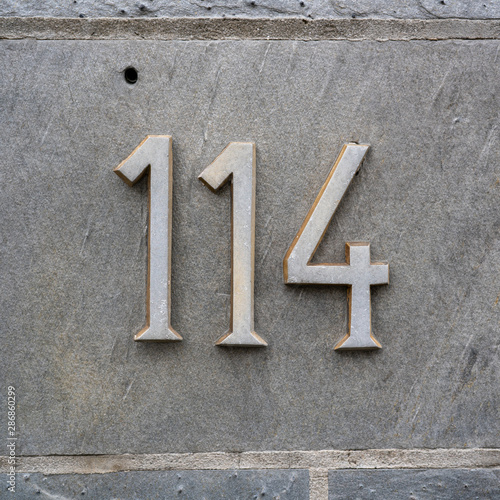 number 114 Canvas Print