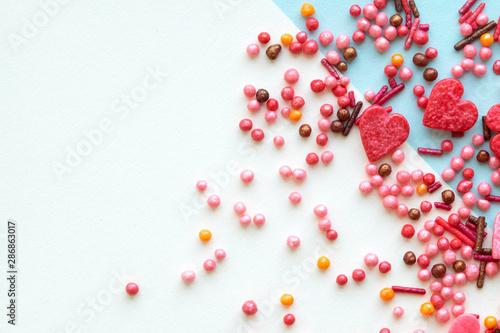 Fotobehang Macrofotografie Colorful celebration background with candy.