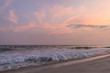 Cotton Candy colored pink and orange sunsets at the beach in Orange Beach, Alabama at the coast