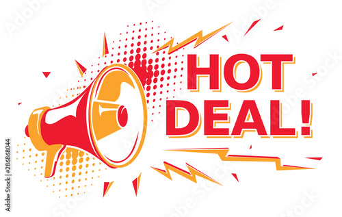 Valokuva Hot deal - advertising sign with megaphone