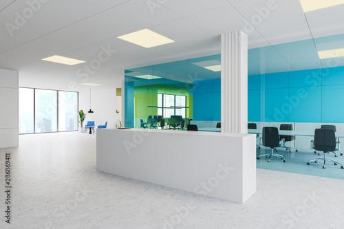 Obraz Reception desk near meeting room in office - fototapety do salonu