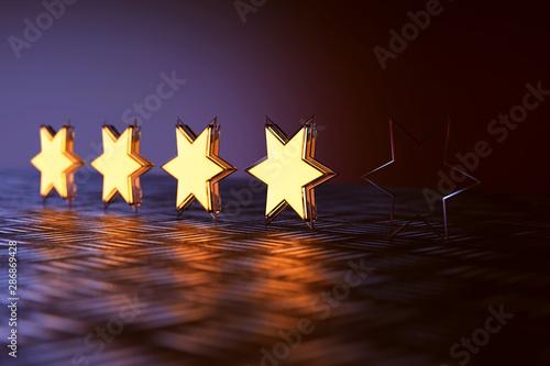 Bewertung mit Sternen
