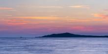 Purple Sunrise Over Várhegy In Fonyod At Lake Balaton Hungary Morning View Nice Sunset