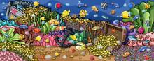 Animals Underwater Treasure  W...