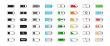 Battery Charge Icon Set. Power...
