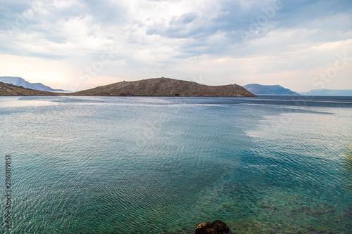 Obraz Widok na morze w Chorwacji oraz piękne wyspy - fototapety do salonu