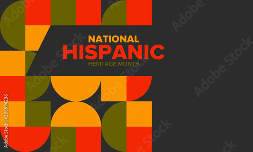 National Hispanic Heritage Month in September and October Canvas Print