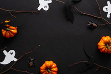 Halloween Composition With Gho...