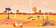 Panorama Of Autumn Landscape I...