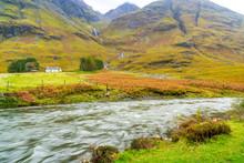 Autumn Landscape With River An...