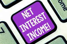 Writing Note Showing Net Inter...