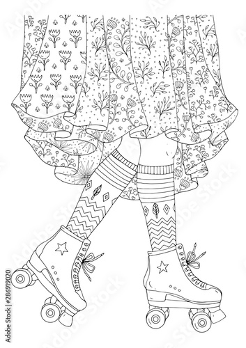 roller skate coloring pages - Google Search | 500x354