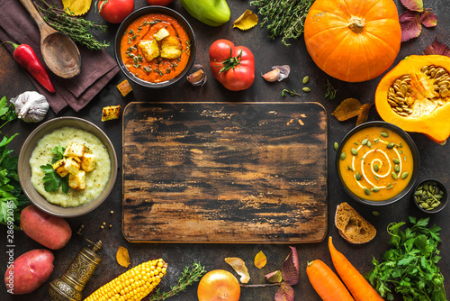 Autumn soups set Canvas-taulu