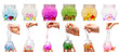 canvas print picture - Slime transparent funny toy. Slime is in a transparent container isolated on withe background