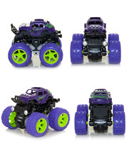 Bigfoot Toy Car On A White Background. View From Four Sides.