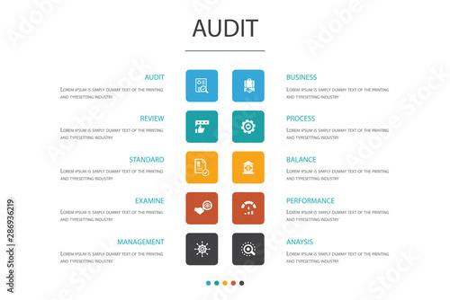 audit Infographic 10 option concept Canvas Print