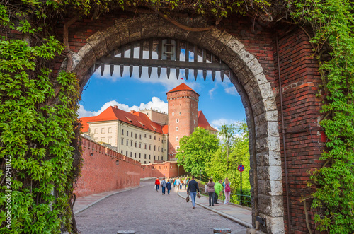 Fototapeta Beautiful Wawel castle in Krakow Poland. obraz
