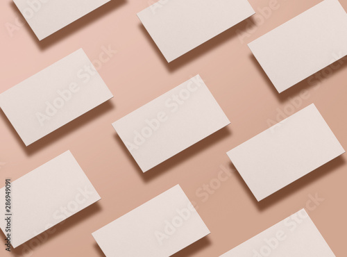 Mock up of blank business cards Canvas-taulu