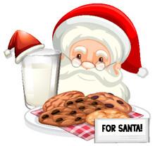 Chocolatechip Cookies And Milk...