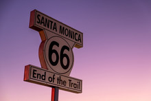 Historic Route 66 Sign At The ...