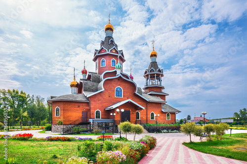 Fototapety, obrazy: Orthodox Church in honor of the Epiphany. Berdsk, Western Siberia