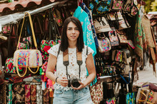 Hispanic Girl Making Pictures ...