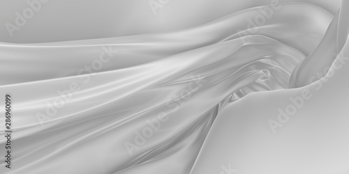 Papiers peints Tunnel Abstract background of colored wavy silk or satin.