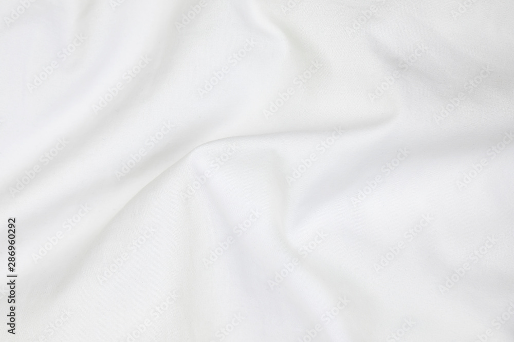 Fototapety, obrazy: Close up of white bedding sheets soft focus and copy space