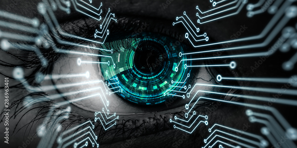 Fototapety, obrazy: Abstract high tech eye concept