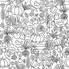 Farm Living Seamless Pattern. ...