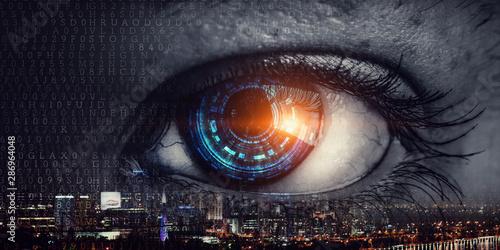Obraz Abstract high tech eye concept - fototapety do salonu