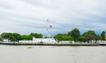 Vichai Prasit Fortress By The River Bank In Bangkok,Thailand.
