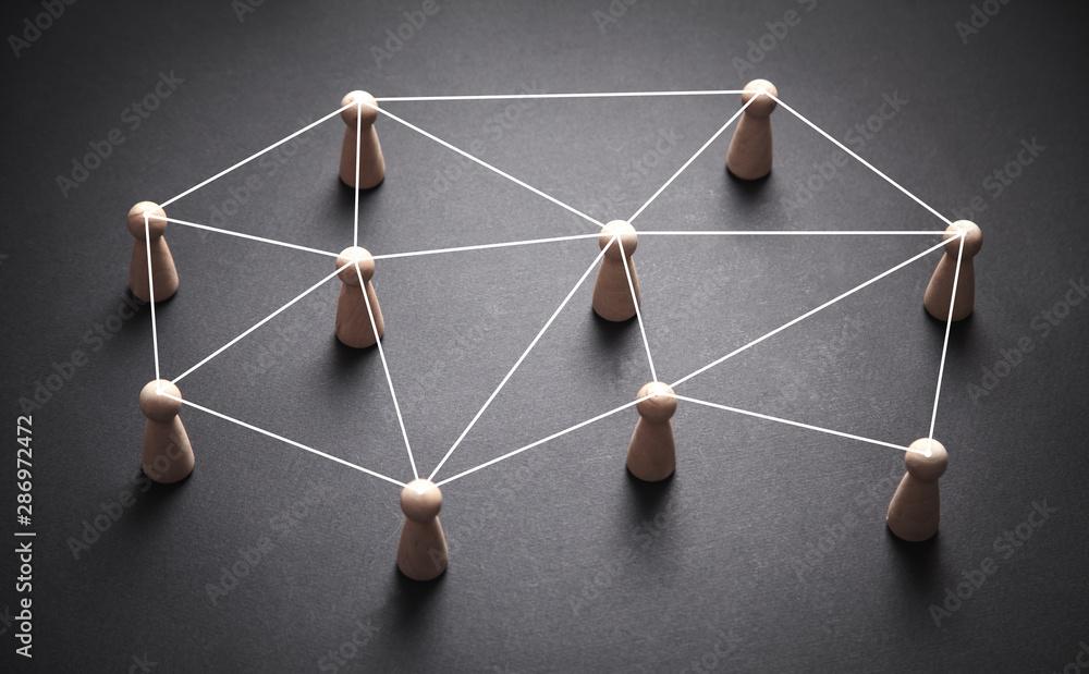 Fototapeta Social media connections. Communication. Business team