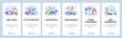 Mobile app onboarding screens. Cyber sportsman, team player, computer games, VR technology. Menu vector banner template for website and mobile development. Web site design flat illustration