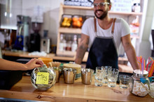 Tips Jar - Money Left For A Employee,.