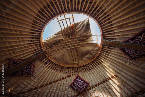 Kazakh and Mongolian national yurt (inside)
