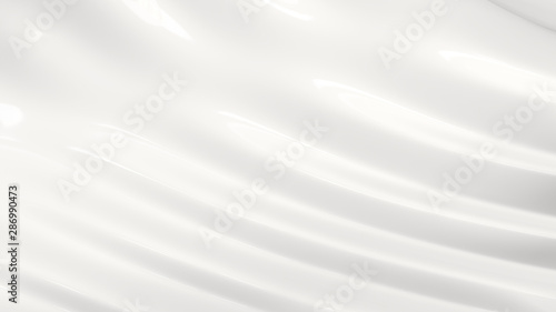 Papiers peints Tunnel Milk Background. 4K size. 3d illustration.