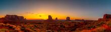 Panoramic At The Beautiful Sun...